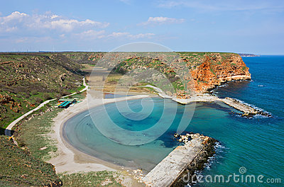 Small Peaceful Beach on Bulgarian Black Sea Coast