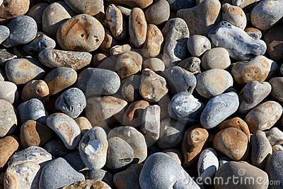 Small pebbles on Hastings beach