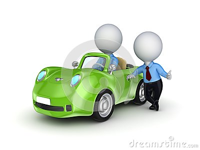 Small person selling the car.