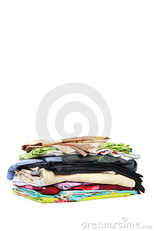 Small pile of bed-clothes | Isolated