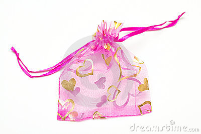Small pink bag for presents