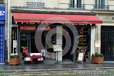 Small pizzeria in Paris Editorial Image