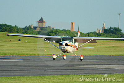Plane Landing on Stock Photos  Small Plane Landing  Image  9905913