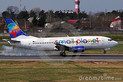 Small Planet Airlines Editorial Photo