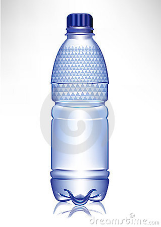 Small plastic glass of water with cap