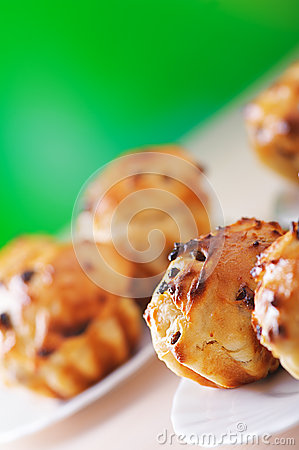 Small plates of muffins