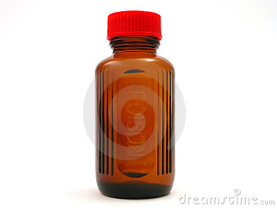 Small Poison Bottle With Red Cap Royalty Free Stock ...