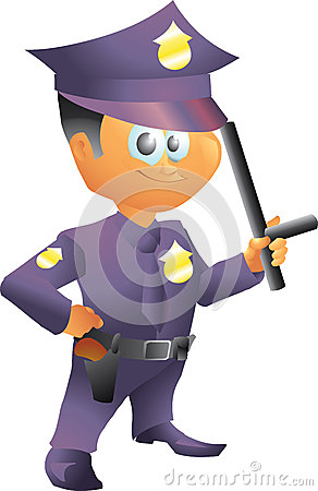 Small police officer