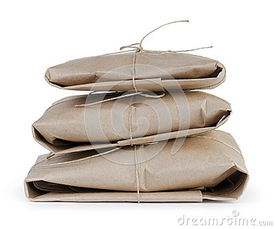 Small post packets vintage style parcel or gift