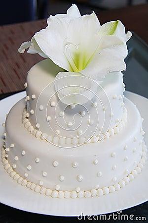 Small Pretty Wedding Cake Modern Royalty Free Stock