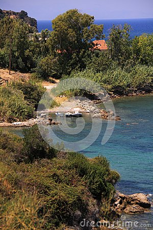 Private beach on the island of zakynthos