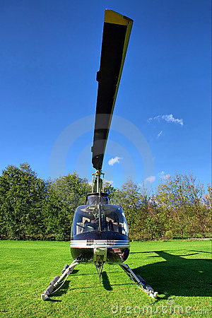 Free Small Private Helicopter On Grass Stock Photo - 6722400