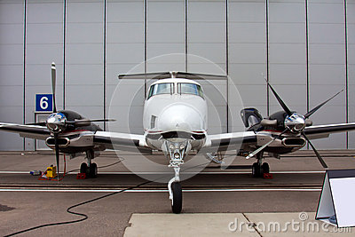Small private propeller aircraft with one engine