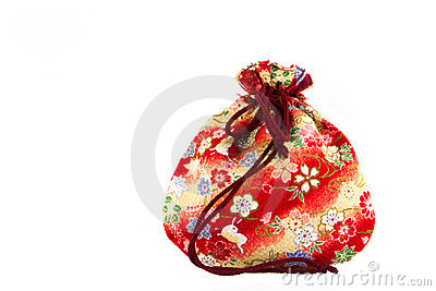 Small red bag for presents