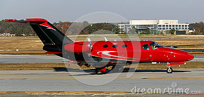 Red Private Jet Stock Photography  Image 30083252