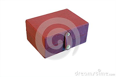 Small red box for trinkets isolated on white