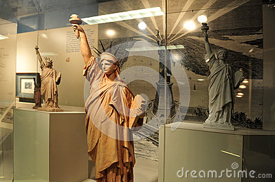 Small replicas of the Statue of Liberty Editorial Image