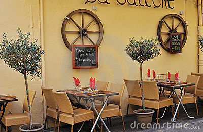Small restaurant in Aix en Provence