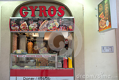 Doner Kebab in Prague Editorial Stock Image