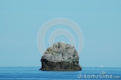 Small rocky island near Corsica