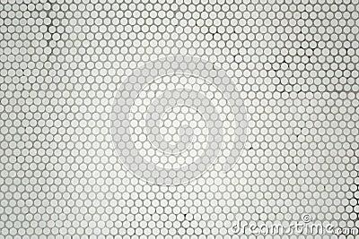 Small round mosaic tiles