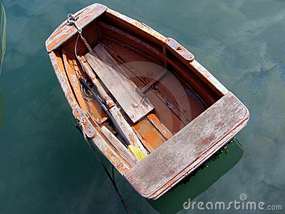 Small rowing boat.