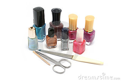 Small selection of nail polishes