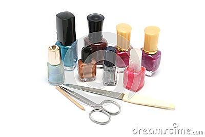 Small selection of nail polishes