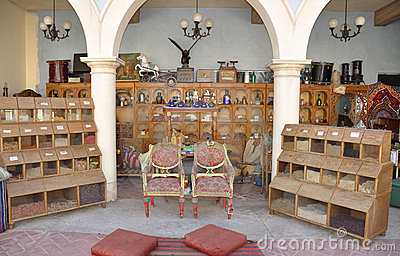 Small shop with ancient items