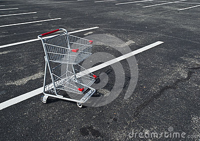 Small Shopping Cart Abandoned