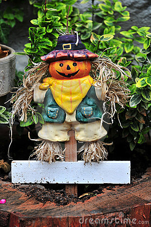 Small smiling scarecrow