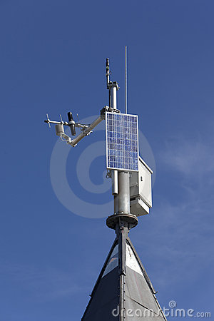 Free Small Solar Powered Hitech Meteo Station Stock Photo - 20929530