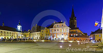 Small square in Sibiu, Romania