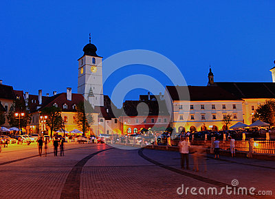 Small square, Sibiu, Romania