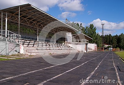 Small stadium with stands