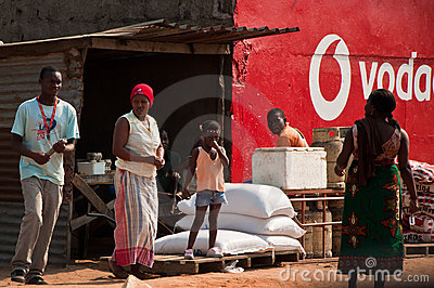 Small store in Mozambique Editorial Photo
