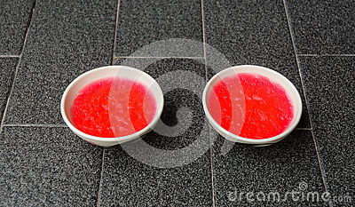 Small strawberry jelly