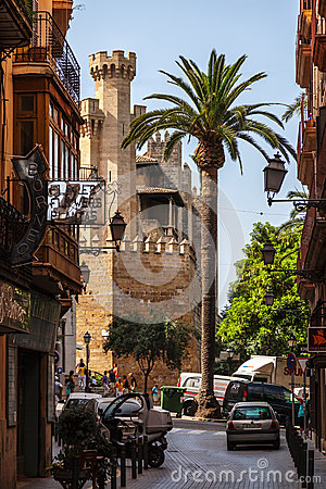 Small Street in Palma de Mallorca Editorial Image