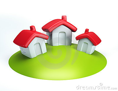 Small symbolic house 3d render