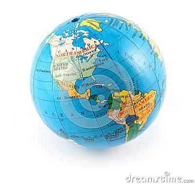 Free Small Terrestrial Globe Royalty Free Stock Photos - 4260278