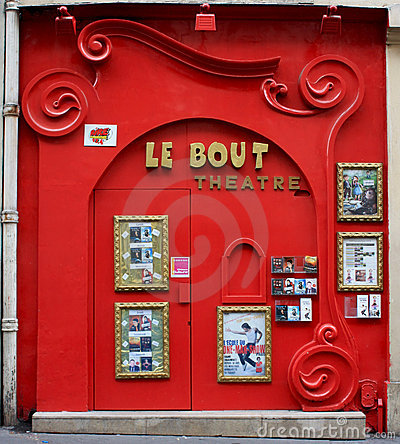 A small theater in Paris Editorial Photography
