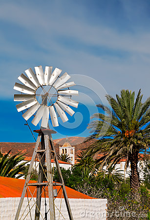 Small tin windmill in Fuerteventura