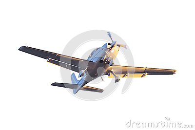 Small tourist plane isolated
