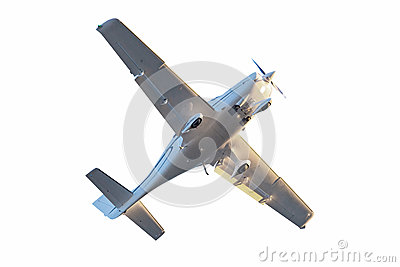 Small tourist plane isolated.