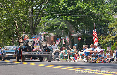 Small town 4th of July Parade Editorial Image