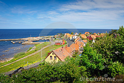 Small town on Bornholm island