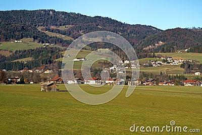 The small town of Koessen in Tyrol, Austria