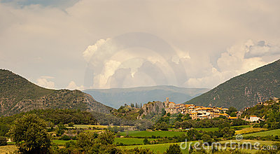 Small town of Peramea in Spanish Pyrenees