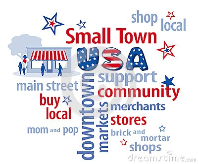 Small Town USA Word Cloud