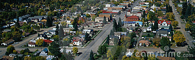 Small town in the western part of the United State Editorial Stock Photo